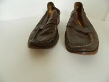 Mens Cole Haan N*ke Air Brown Slip on Leather Loafer Shoes Size 8.5M