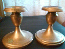 Evans Nickel Silver Victorian Weighted Candlesticks Great Pair (2) Ornate!