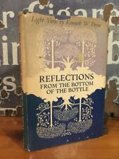 """Rare Kenneth Payne """"Reflections from the Bottom of the Bottle"""" Signed First 1971"""