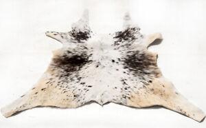 """Rare Cowhide Rugs Calf Hide Cow Skin Rug (29''x35"""") White Brown Beige CH8437"""