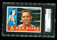 1960 Topps Baseball #197 RON KLINE St Louis Cardinals SGC 88 NM/MT