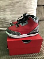 Air Jordan 3 Retro Bulls Red  Cement CQ0489-600 Size 7c
