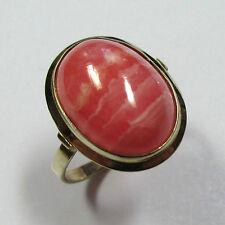350 - Klassischer Ring aus Gelbgold 333 mit Rhodochrosit --- -1910-
