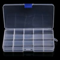 10/15/24/36Slot Adjustable Storage Box Plastic Case Organizer Jewelry Bead Boxes