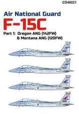 Caracal Decals 1/48 MCDONNELL DOUGLAS F-15C EAGLE Air National Guard Units