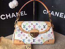 New 100% Genuine Louis Vuitton Multicolor Monogram White Beverly MM Bag