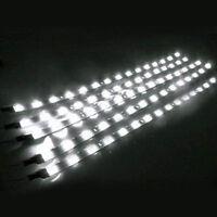 5pc 30cm 15LED Strip Light Flexible Waterproof  White For Car Motor Vehicle12V U