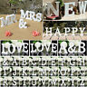 Wood Letters Words Freestanding Alphabet Wedding Party Shop Xmas Home Decor New