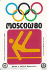 Gymnastique gymnastics MOSCOU Moscow Olympic GAMES MATCHBOX LABEL 1980