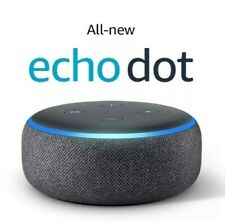 *New* Amazon Echo Dot 3rd Generation Smart speaker With Alexa Charcoal Black