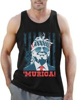 Donald Trump Murica 4th of July Patriotic American Party USA Singlet Flag