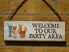 PERSONALISED GARDEN SIGN PARTY SIGN DECKING SIGN WELCOME SIGN PATIO COCKTAILS
