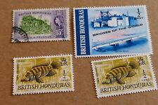 4  British Honduras postage stamps philately philatelic postal