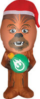 CHRISTMAS SANTA STAR WARS CHEWBACCA WITH ORNAMENT  AIRBLOWN INFLATABLE 3.5 FEET