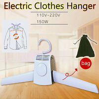 Electric Clothes Drying Rack Portable Dryer Hanger Folding Travel Laundry