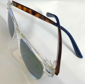 Crystal with Tortoise Frame Unknow Sunglasses 54-19-145 B:43 Gray Green Lens