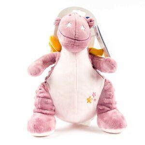 New W/ Tag Doudou Noukies Victoria Purple Dragon Dinosaur Cuddly Soft Plush Toy