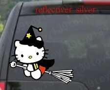 for hello kitty broom Truck / Car Decal Vinyl Sticker wall  funny stickers