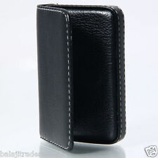 Genuine PU Leather Leather Credit Card Holder Wallet Card Wallet Holder - Black1
