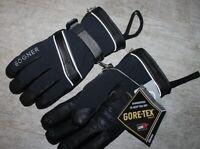 Bogner Herren Teil Leder Ski Handschuh RENZO GT Schwarz Größe 8,5 S Neu