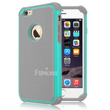 Shock proof Rubber Matte Hard Case Cover For Apple iPhone 4 4S 5 5S 6 6S Plus