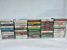 Vintage Cassettes Tape Lot Of 50 Pics Show Titles Great Titles 1960-1990's #3