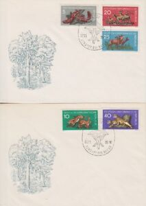 GDR FDC 737 - 741 On 2 Fdc's With Sst Berlin Nature 1959, Frist Day Cover