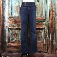 Tommy Hilfiger Women's Size 14 Denim Jeans Pants Sailor Clasps Boot Cut B14