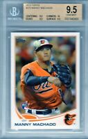 "2013 Topps #270 ""Manny Machado"" RC @LOOK@ BGS 9.5 ""on fire"" TRUE 9.5,10,9.5,9.5"