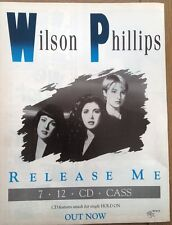 WILSON PHILLIPS Release Me magazine ADVERT / Poster 11x8 inches