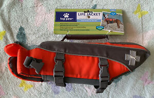 Top Paw Orange Life Jacket (Size Small: Dogs 15-30 lbs) New