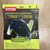 Ryobi 2 In 1 Pivoting Fixed Line & Bladed Head AC052N1 New 18V Auto Feed Trimmer