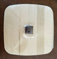 Longaberger Woodcrafts Lid Wood ~ ACT Large Berry Clear w/ Handle ~ 50438 ~ NEW!
