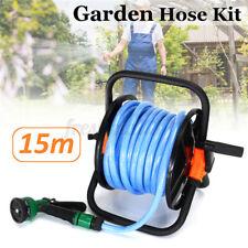 15M Water Wash Hose Reel Cart Mobile Holder Storage Wheels Patio Garden