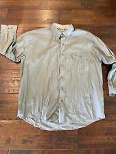 Bob Allen 142K Long Sleeve Vent Back Shirt, Size Xl, Color: Sage Benelli Logo