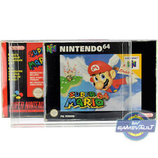 10 Game Box Protectors for N64 SNES Super Nintendo 64 0.5mm Plastic Display Case