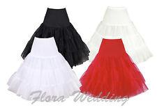 "Flora 50s Vintage Rockabilly Net Petticoat Black 26"" Length Skirtxsmall-medium"