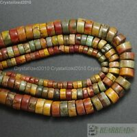 Natural Colorful Picasso Jasper Gemstone Heishi Beads 2mm 3mm 4mm 6mm 8mm 16""