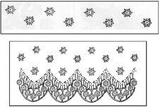 "La Blanche LB1295  ""Lace Pattern"" 1 Silicone Stamp Size 3.25"" x  1.75"" NEW"