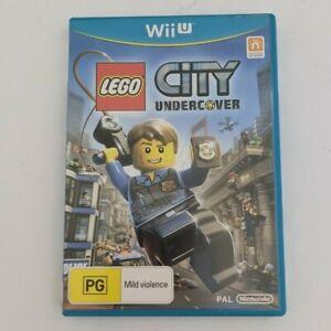 Genuine Nintendo Wii U Game LEGO City Undercover PAL AUS Free Ship!