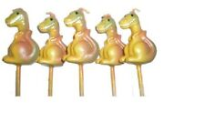 Dinosaurs Mini Toothpick Candles - set of 5