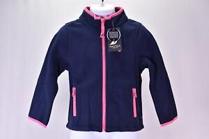 Youth Girl's Nautica Zip Up Fleece Jacket, Navy
