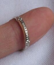 14K White Gold Ring Jewelry Wedding Band DIAMOND Antique Art Deco (id105)