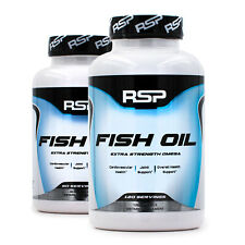 RSP Nutrition Fish Oil Extra Strength (60/120ct) Omega 3 fatty acids supplement