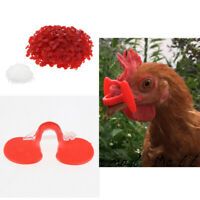 500x Poulet Pinless Peepers Volaille Oeillères Lunettes Anti-picotement