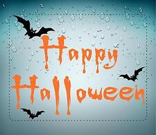 sticker decal car bike bumper home halloween spooky kid horror happy bat