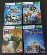 Lot of 4 XBOX 360 KINECT Games PENGUINS - KUNG FU PANDA - DISNEYLAND - JOY RIDE