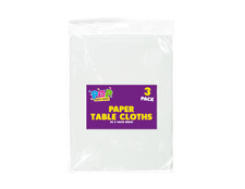 Pack of 3 White Paper Table Cloths 90x90cm Large Disposable Party Banquet cover