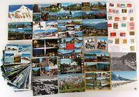 Postkarten Lot SCHWEIZ 80 Ansichtskarten mit Briefmarken frankiert ab/nach 1964