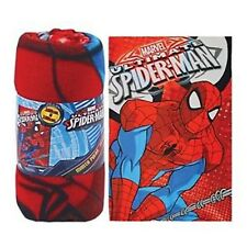 Spiderman Fleece Blanket Featuring Ultimate Spider-Man Marvel Heroes